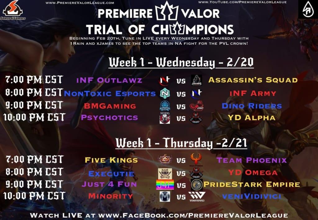 Premiere Valor League - S2 Week 1