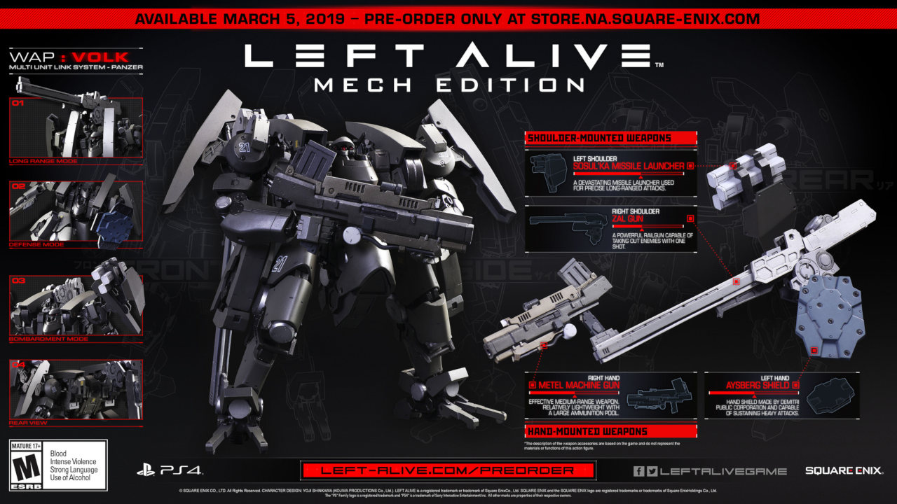 Left Alive - Mech Edition Global Release