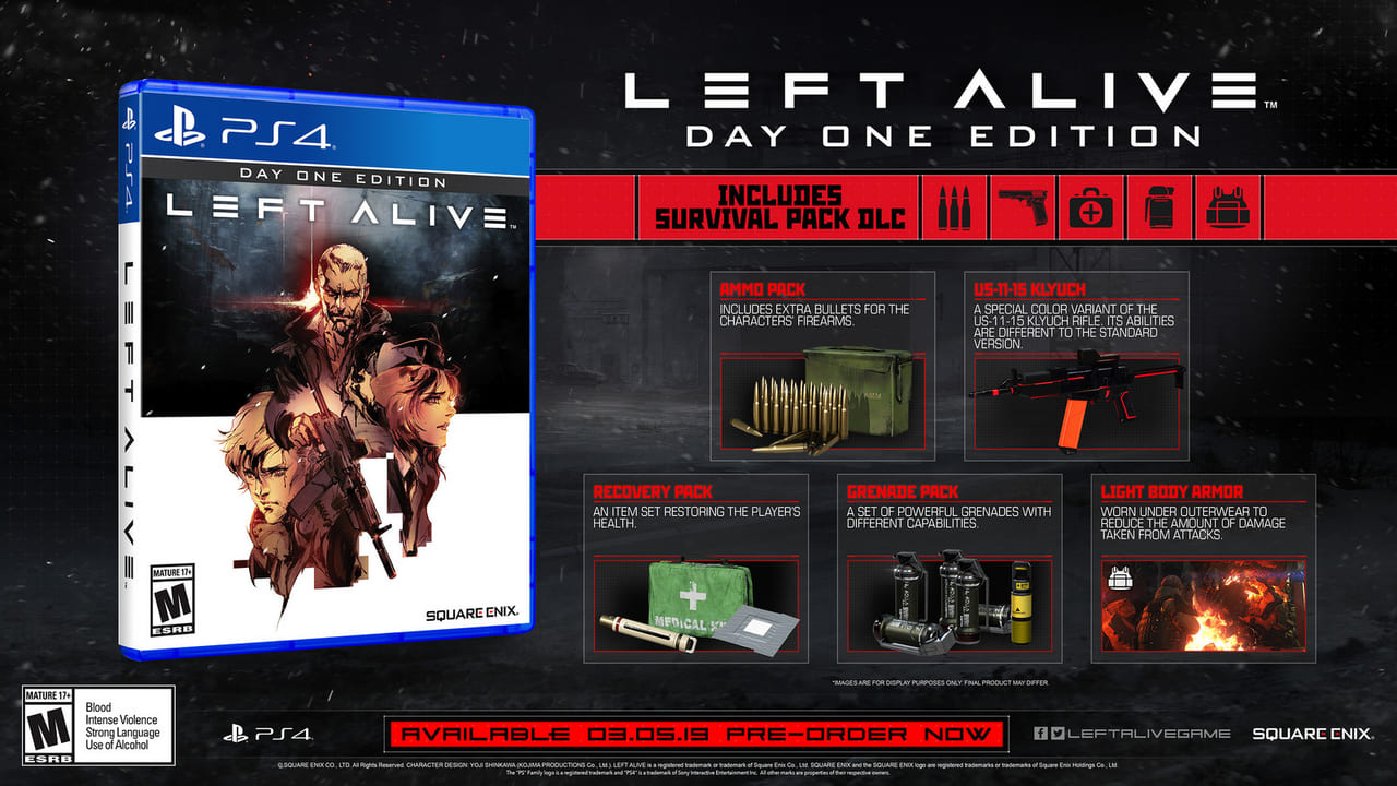 Left Alive - Day One Edition Global Release