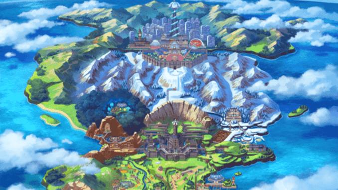 Pokemon Sword and Shield - Galar Region Upper 1/3 Section