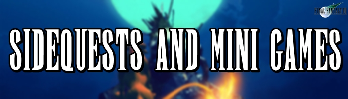 Final Fantasy 7 - Sidequests and Mini Games Header