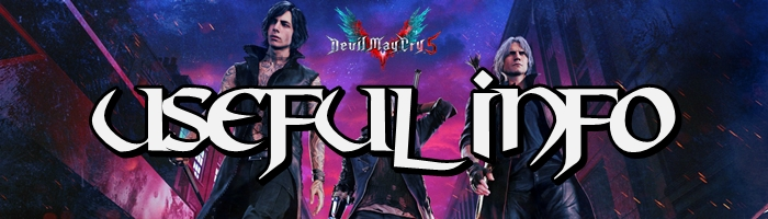 Devil May Cry 5 - Useful Information Banner
