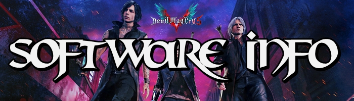 Devil May Cry 5 - Software Information Banner
