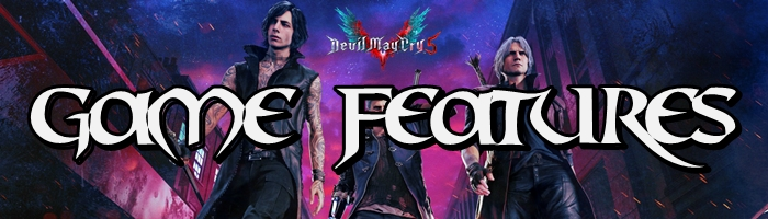 Devil May Cry 5 - Game Features Banner