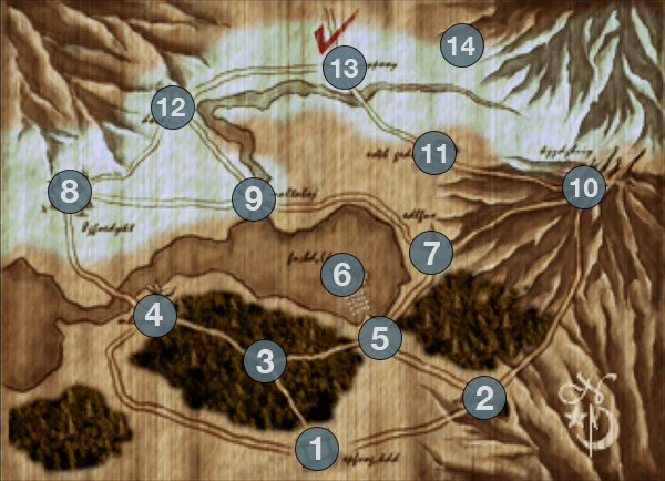 FFVII Great Glacier Map