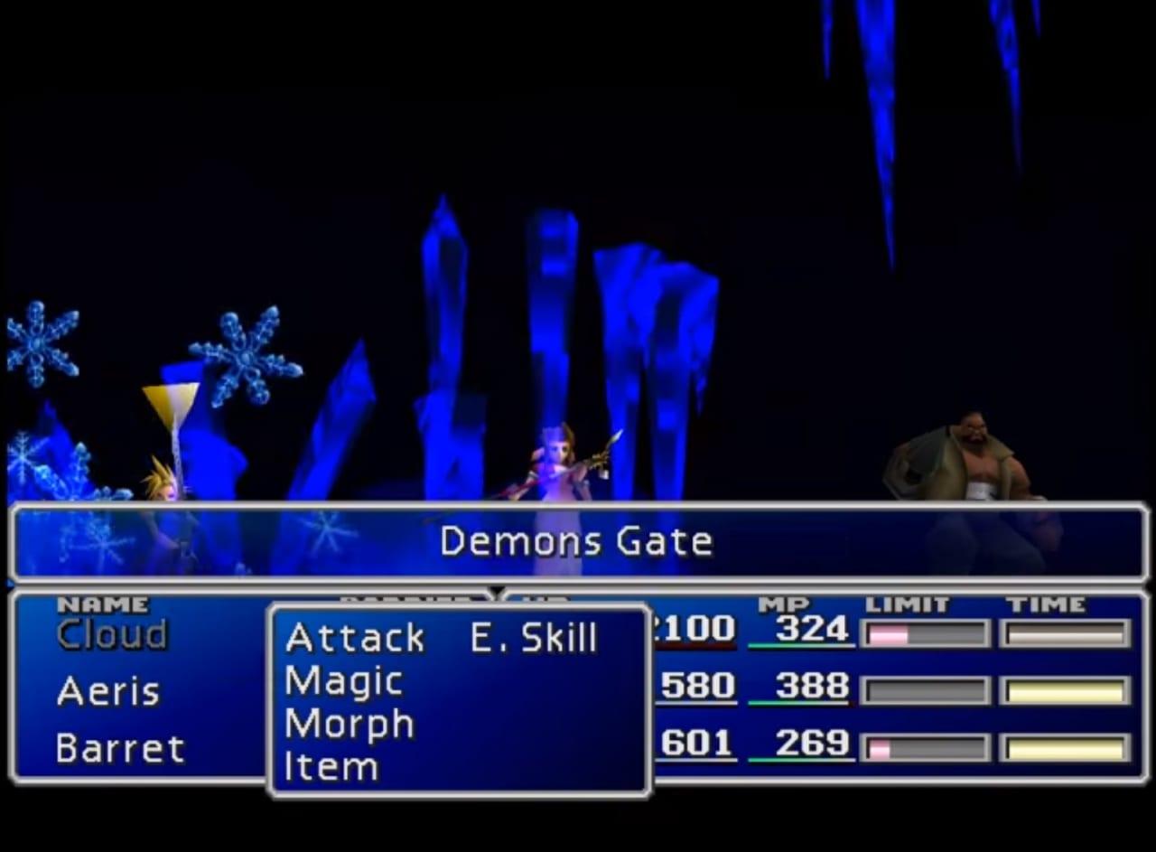 FFVII Demon's Gate Cave-In