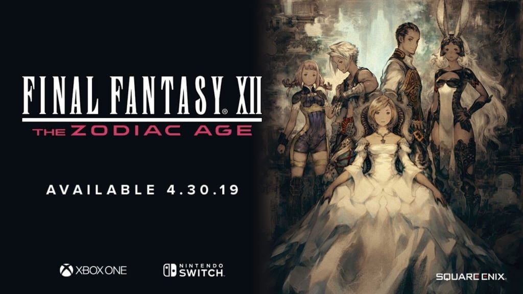 Final Fantasy 12: The Zodiac Age / FFXII: TZA - Nintendo Switch Release Details