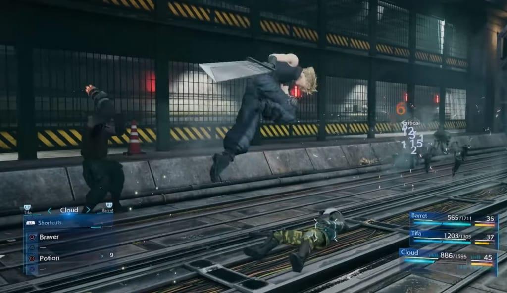 Final Fantasy 7 Remake / FFVII Remake - Trailer Breakdown and Analysis - Cloud at Winding Station