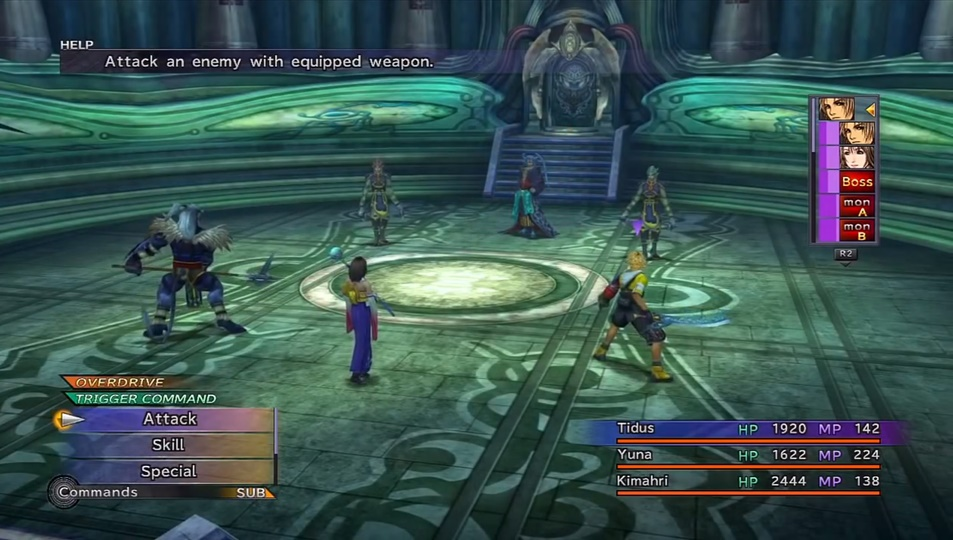 Final Fantasy X Seymour (Macalania Temple) Boss Guide