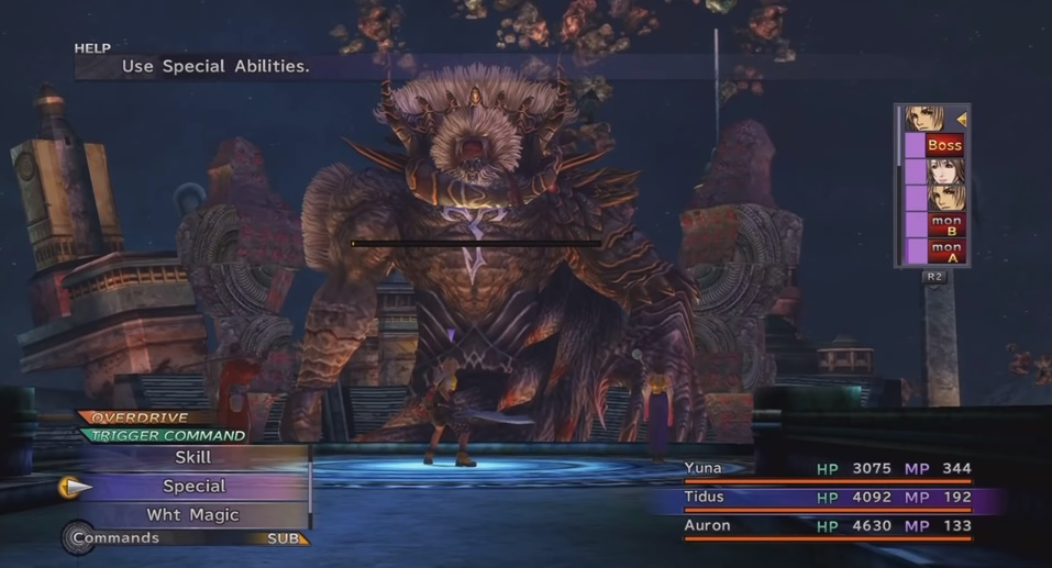 FFX Braska's Final Aeon Boss Guide