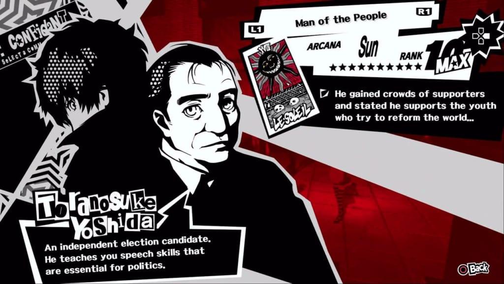 Persona 5 / Persona 5 Royal - Toranosuke, the Sun Confidant