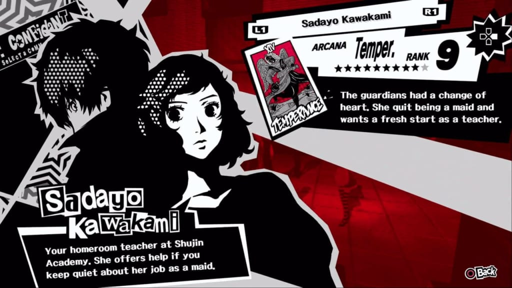 Persona 5 / Persona 5 Royal - Kawakami, the Temperance Confidant