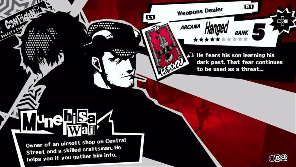 Persona 5 / Persona 5 Royal - Iwai, the Hanged Man Confidant