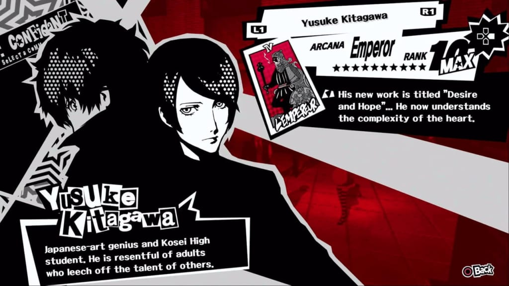 Persona 5 / Persona 5 Royal - Yusuke, the Emperor Confidant