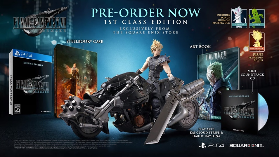 FF7 Remake Game Editions Announced