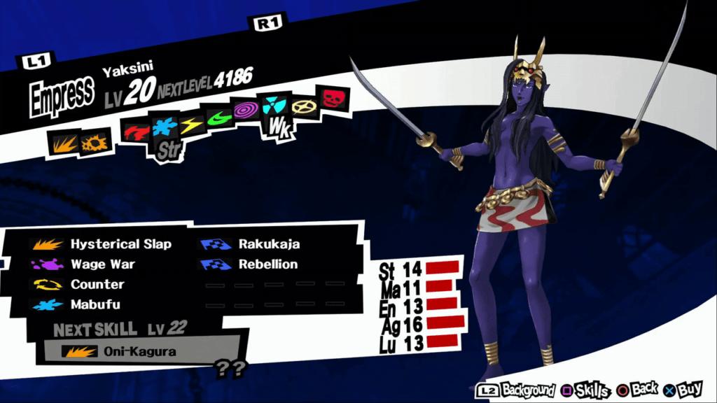 Persona 5 / Persona 5 Royal - Yaksini