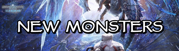 Monster Hunter World: Iceborne - New Monsters Banner