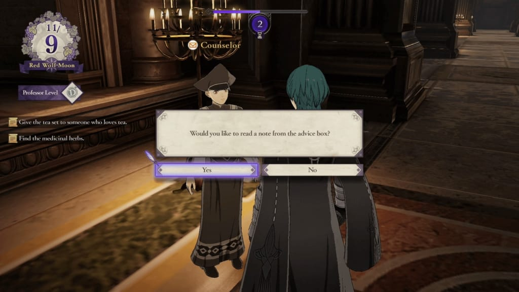 Fire Emblem: Three Houses - Advice Box Guide