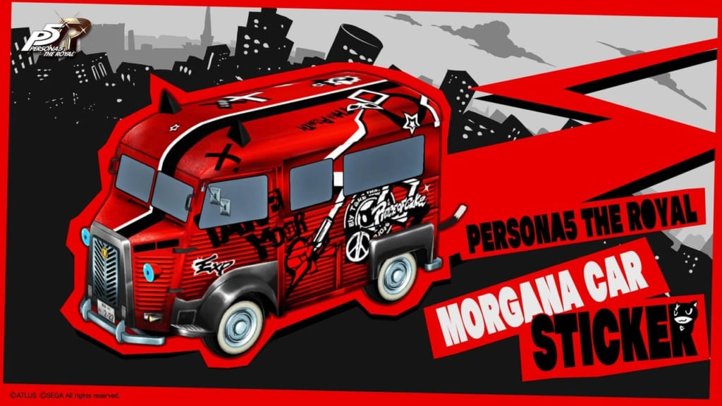 Persona 5 / Persona 5 Royal - Morgana Car New Sticker