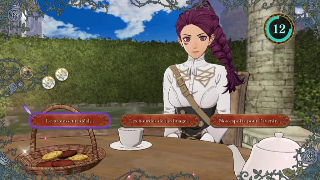 Fire Emblem: Three Houses - Tea Party Dialogue Choices with Petra