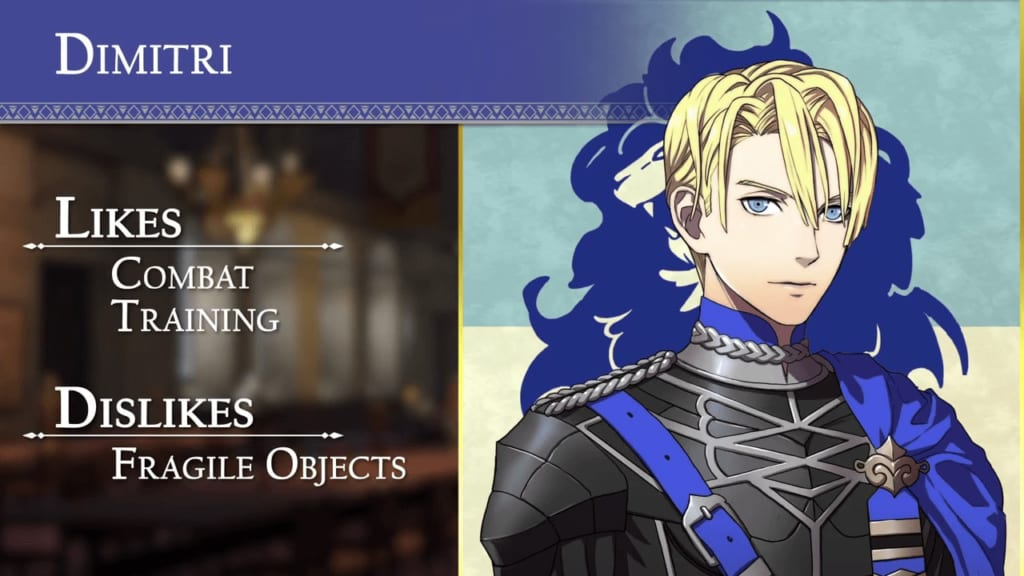 Fire Emblem: Three Houses - Blue Lions House Dimitri
