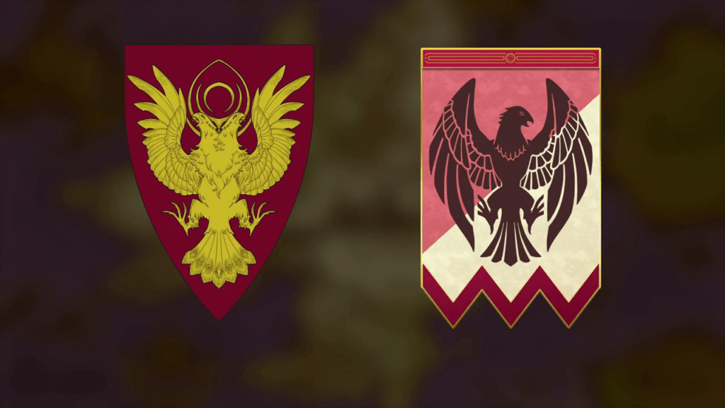 Fire Emblem: Three Houses - Black Eagles House Coat of Arms