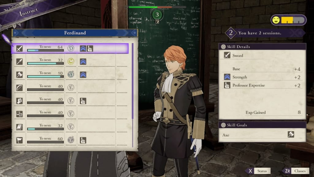 Fire Emblem: Three Houses - Tutoring Strengths and Weaknesses of Playable Characters