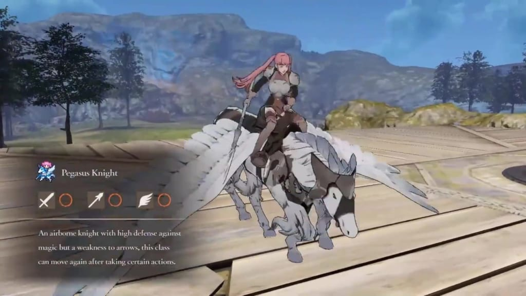 Fire Emblem: Three Houses - Pegasus Knight Class