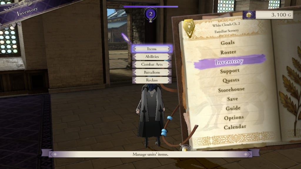 Fire Emblem: Three Houses - Inventory Display (Menu Guide)