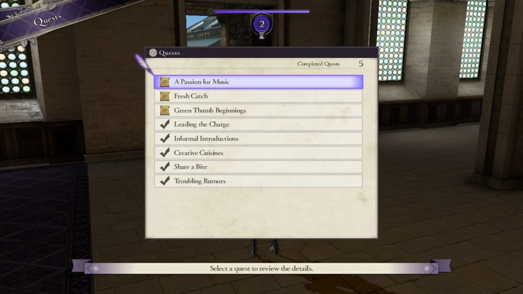 Fire Emblem: Three Houses - Quests Display (Menu Guide)