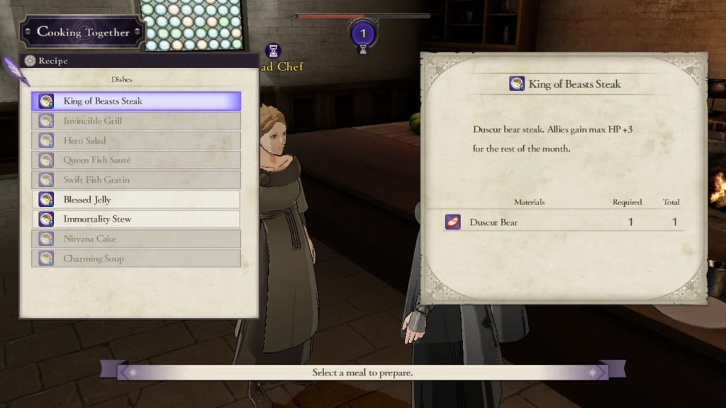 Fire Emblem Three Houses Cooking Recipe List Samurai Gamers