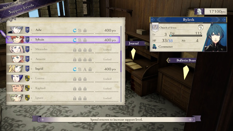Fire Emblem: Three Houses - New Game+' Support Levels