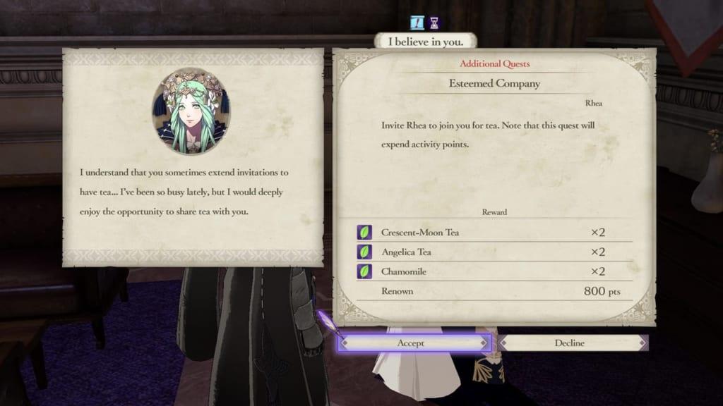 Fire Emblem: Three Houses - Unlocking Rhea Tea Party