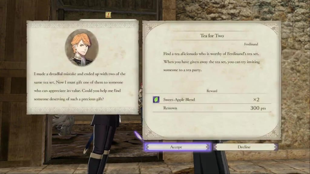 Fire Emblem: Three Houses - Tea for Two Quest