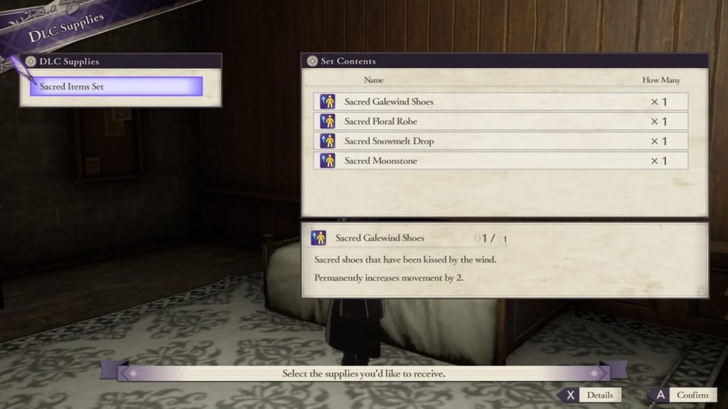 Fire Emblem: Three Houses - New Supply Items
