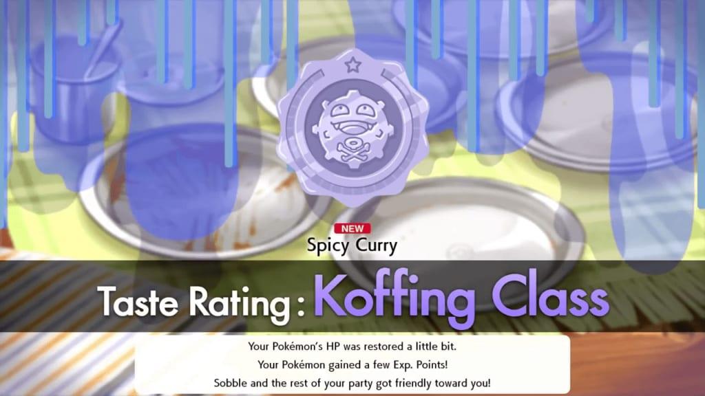 Pokemon Sword and Shield - Koffing Taste Rating