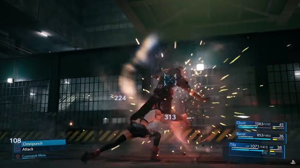Final Fantasy 7 Remake - Tifa Unique Commands