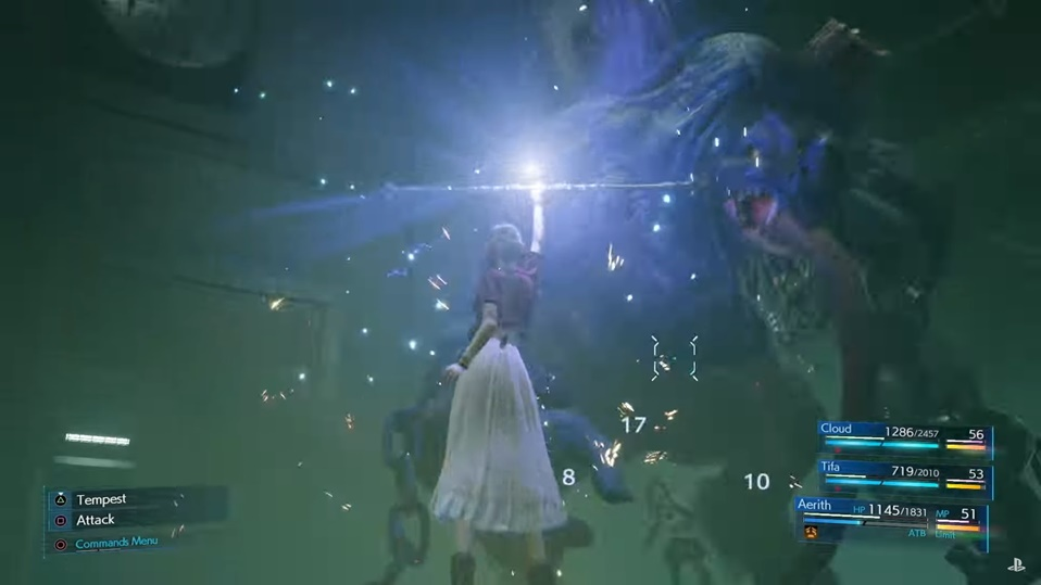 Final Fantasy 7 Remake - Aerith Unique Commands