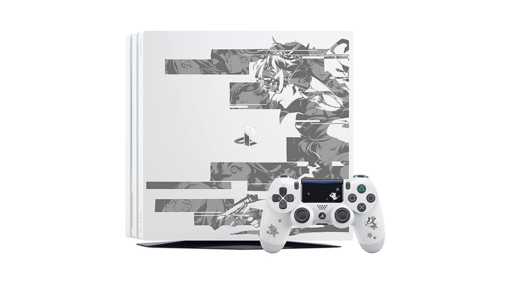 Persona 5 / Persona 5 Royal - Straight Flush Limited Edition PS4 Pro Glacier White