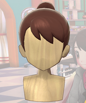 Pokemon Sword and Shield - Hair Salon Ponytail Front