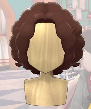 Pokemon Sword and Shield - Hair Salon Curly Bob Front