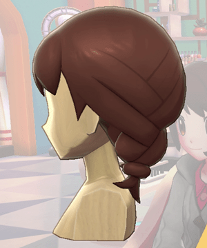 Pokemon Sword and Shield - Hair Salon Braided Pigtails Side