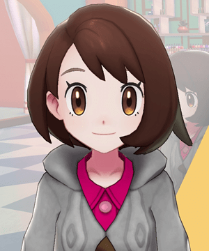 Pokemon Sword and Shield - Hair Salon Eyebrow Tint Pink Brown