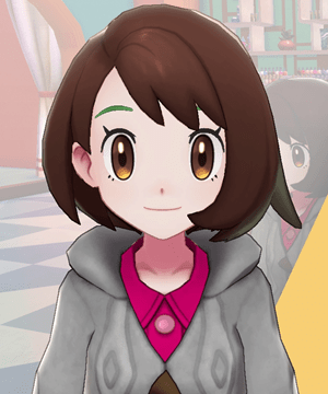 Pokemon Sword and Shield - Hair Salon Eyebrow Tint Green