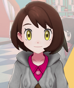 Pokemon Sword and Shield - Hair Salon Eye Color Burning Hazel