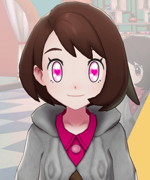 Pokemon Sword and Shield - Hair Salon Eye Color Lovely Hearts