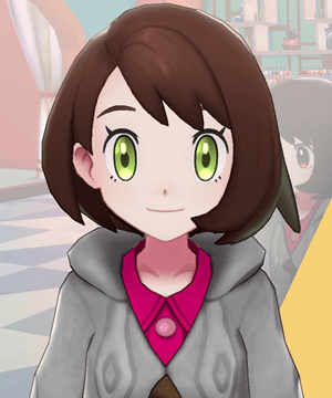Pokemon Sword and Shield - Hair Salon Yellow Green