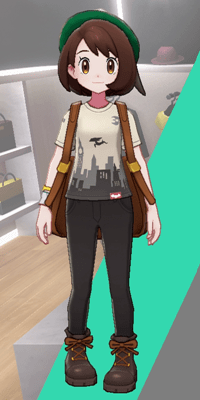 Pokemon Sword and Shield - Wedgehurst Boutique Casual Tee Urban Smog