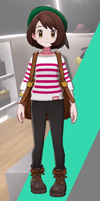 Pokemon Sword and Shield - Wedgehurst Boutique Stripped Top Pink
