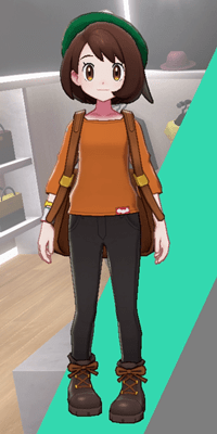 Pokemon Sword and Shield - Wedgehurst Boutique Loose Top Orange